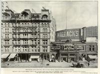 Broadway, 31st to 32nd Street, 1218 to 1238 - Atlantic Coast Line - Wallack's Theatre - Hiram Walker & Sons, Canadian Club Whiskey - The Men's Shop, Haberdashers - New Grand Hotel.