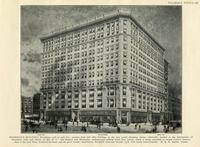 "Marbridge Building, Broadway, 34th to 35th Streets; modern store and office building in the new retail shopping center, admirably located at the intersection of Broadway with 34th Street, on line of L"" and Hudson and Manhattan underground railway from New"
