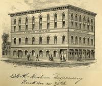 North-western Dispensary, Ninth Ave corner 36th Street.