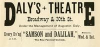 Daly's Theatre, Broadway & 30th St.