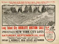 Advertisement for the Long Island City Absolute Auction Sale.