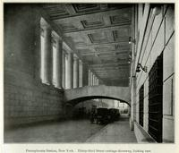 Pennsylvania Station, New York. Thirty-third Street carriage driveway, looking east.