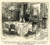 The Astor Dining-Room, a restoration of the dining-room in the old Astor mansion, New Hotel Waldorf.