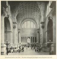 Pennsylvania Station, New York.  The main waiting-room, the largest room of the kind in the world.