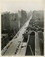 Aerial view, 8th Ave & 34th Street, looking south, Oct. 22, 1942.
