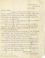 [Letter] 1916 February 15, New York City [to] Mr. Markham