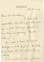 [Letter] 1932 April 21, Bronx, New York City [to] Mr. Markham