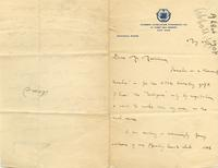 [Letter] 1907 May 27 [to] Mr. Markham