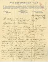 [Letter] 1900 January 13, Brooklyn [to] Mr. Markham