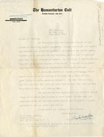 [Letter] 1916 September 13, New York City [to] Mr. Marklan