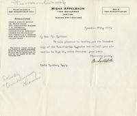 [Letter] 1916 November 30 [to] Mr. Markham