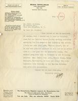 [Letter] 1917 August 3 [to] Mr. Markham