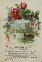 A. Jouffroy  Co. Successors to Benton  Co. Butter, Cheese, Eggs, Fancy Groceries, including best Teas, Coffees, Sugars, Canned Goods, Fruits,&c.