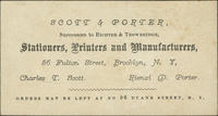 Scott  Porter, Successors to Richter  Trowbridge, Stationers, Printers and Manufacturers