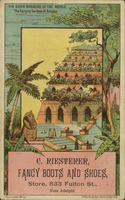 The Seven Wonders of the World. The Hanging Gardens of Babylon. C. Riesterer, Fancy Boots and Shoes