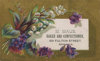 M. Maus, Baker and Confectioner