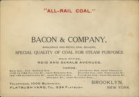 """All-Rail Coal. Bacon  Company, Wholesale and Retail Coal Dealers"