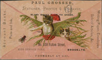 Paul Grosser, Stationery, Printer  Engraver, Blank Books Made to Order