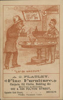 """Lay on MACDUFF. A.C. Flatley, Fine Furniture, Carpets, Oil Cloths, Bedding,&c. Stoves  Clocks"