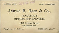 James R. Ross  Co. Real Estate Brokers and Managers