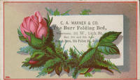 C.A. Warner  Co. The Burr Folding Bed