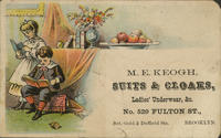 M.E. Keogh, Suits and Cloaks, Ladies' Underwear,&c.