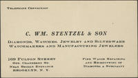 C. Wm. Stentzel  Son, Diamonds, Watches, Jewelry and Silverware, Watchmakers and Manufacturing Jewelers