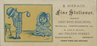 S. Bierach, Fine Stationer, Dealer in Sheet Music, Music Books, Musical Instruments,&c.