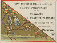 Early Attention is Asked to Orders for Photo-Portraits for the Holidays, G. Frank E. Pearsall