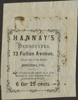Hannay's Ferrotypes. 6 for 25 Cents.