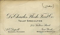 Dr. Charles Flesh Food Co. Toilet Specialties