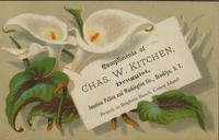 Compliments of Chas. W. Kitchen, Druggist.