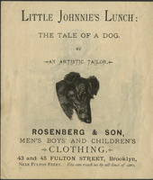 Little Johnnie's Lunch: The Tale of a Dog by An Artistic Tailor