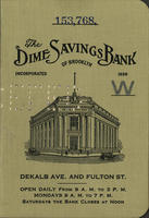 The Dime Savings Bank of Brooklyn, Incorporated 1859 [bank balance book]