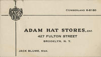 Adam Hat Stores, Inc.