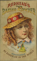 "Redhead's Baking Powder, ""Little Redhead"" Acknowledges No Superior in the World."""