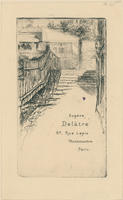 Eugène Delâtre, Rue Lepic, Trade Card