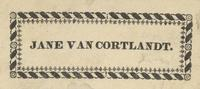 Jane Van Cortlandt Bookplate
