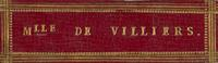 Mlle De Villiers Bookplate