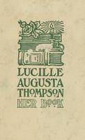 Lucille Augusta Thompson Bookplate