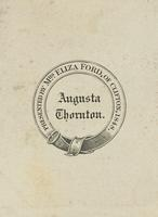 Augusta Thornton Bookplate