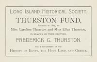 Thurston Fund Bookplate