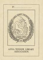 Anna Eliot Ticknor Bookplate
