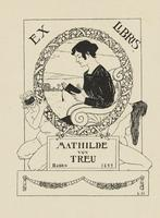 Mathilde von Treu Bookplate