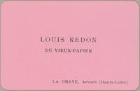 Trade Card for Louis Redon