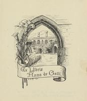 Anna de Galli Bookplate