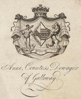 Anne Countess Dowager Galloway Bookplate