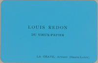 Louis Redon, Du Vieux-Papier Trade Card