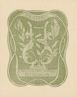 Caroline von Gomperz-Bettelheim Bookplate
