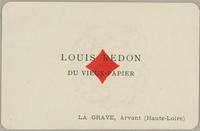 Louis Redon Trade Card, Ace of Diamonds